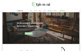 Ephemeral - Interior Design Agency HTML Landing Page Template