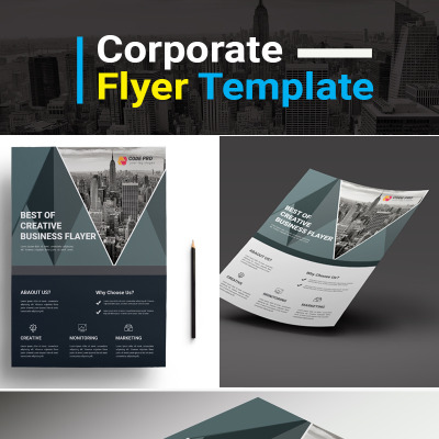 Corporate Business Promotional Flyer PSD Corporate Identity Template #73963