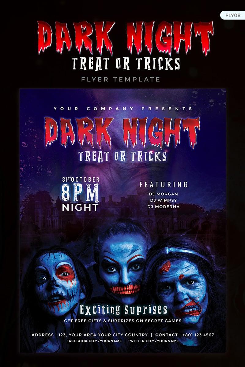 """Dark Night - Halloween Party Flyer Design"" design d'Entreprise  #73912 - screenshot"
