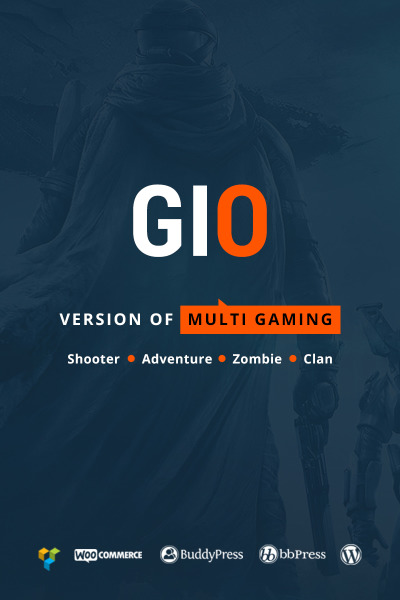 GIO - Multi Gaming Website Builder Multipurpose