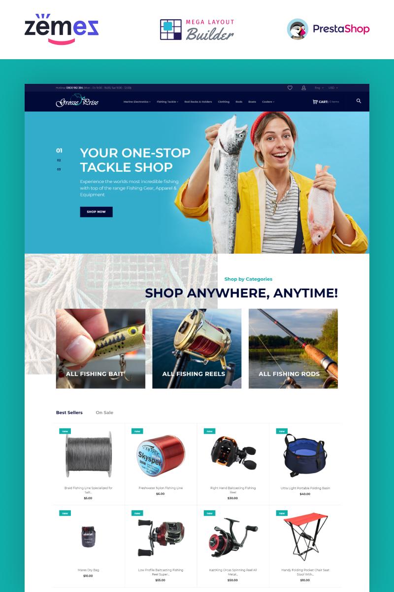 Grosse Prise - Fishing Gear Store Tema PrestaShop №73967