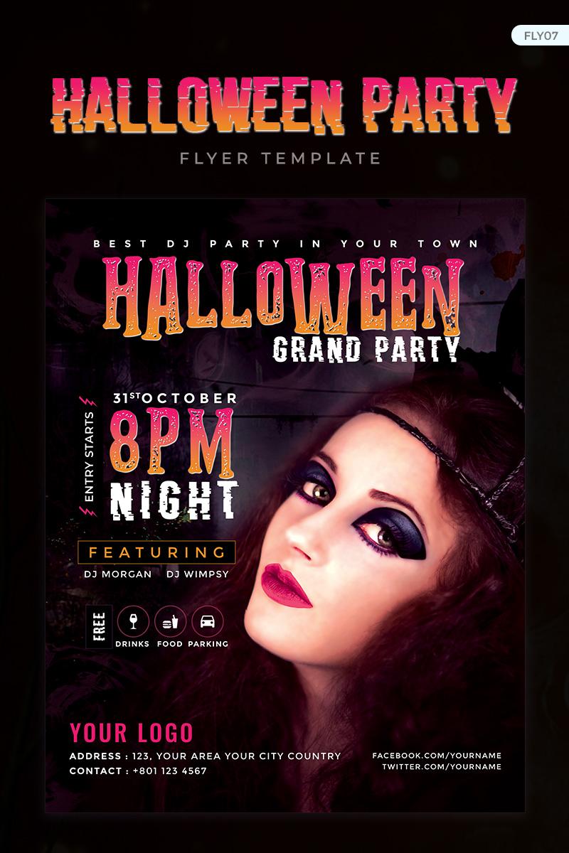 """Halloween Grand Party Flyer"" design d'Entreprise  #73911 - screenshot"