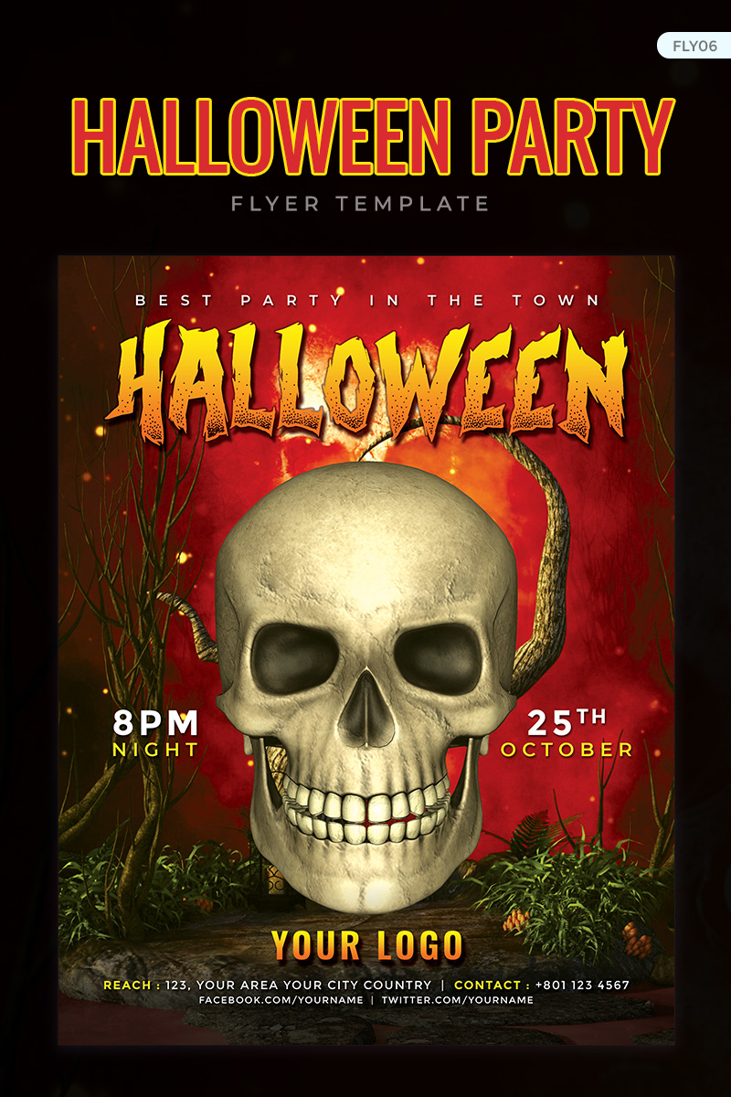 """Halloween Party Flyer - PSD"" design d'Entreprise  #73910 - screenshot"