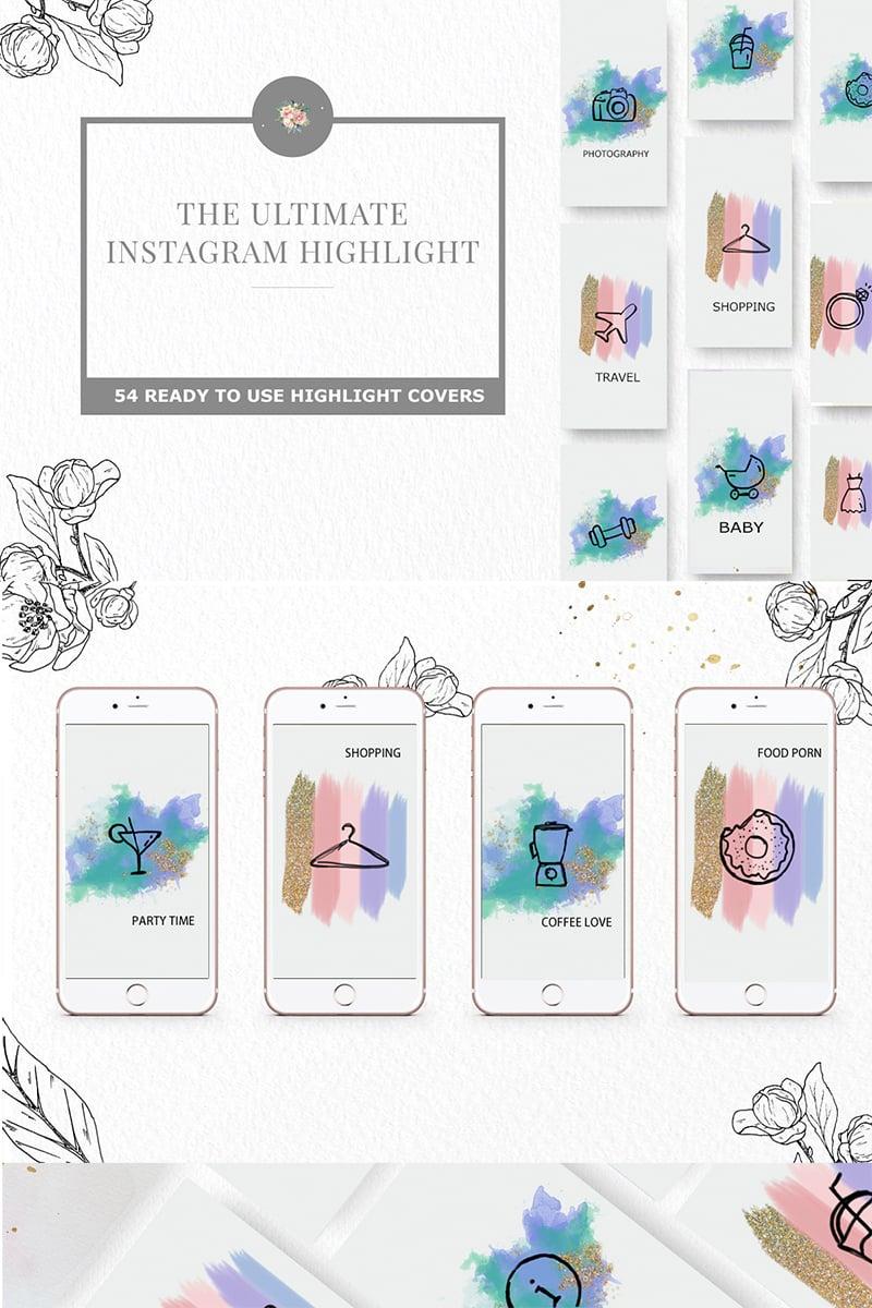 """Icon-Sammlungen Vorlage namens """"Instagram Highlight"""" #73925"""