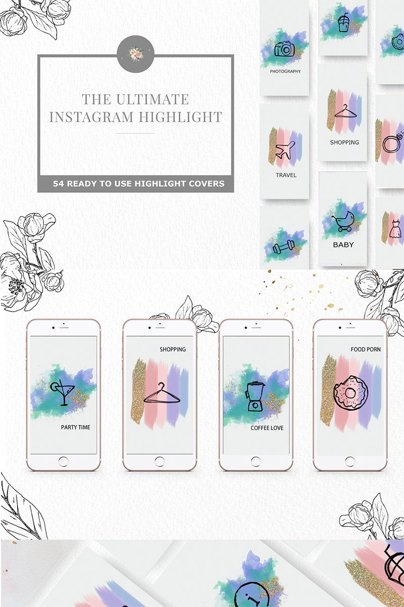 Instagram Highlight Iconset Template