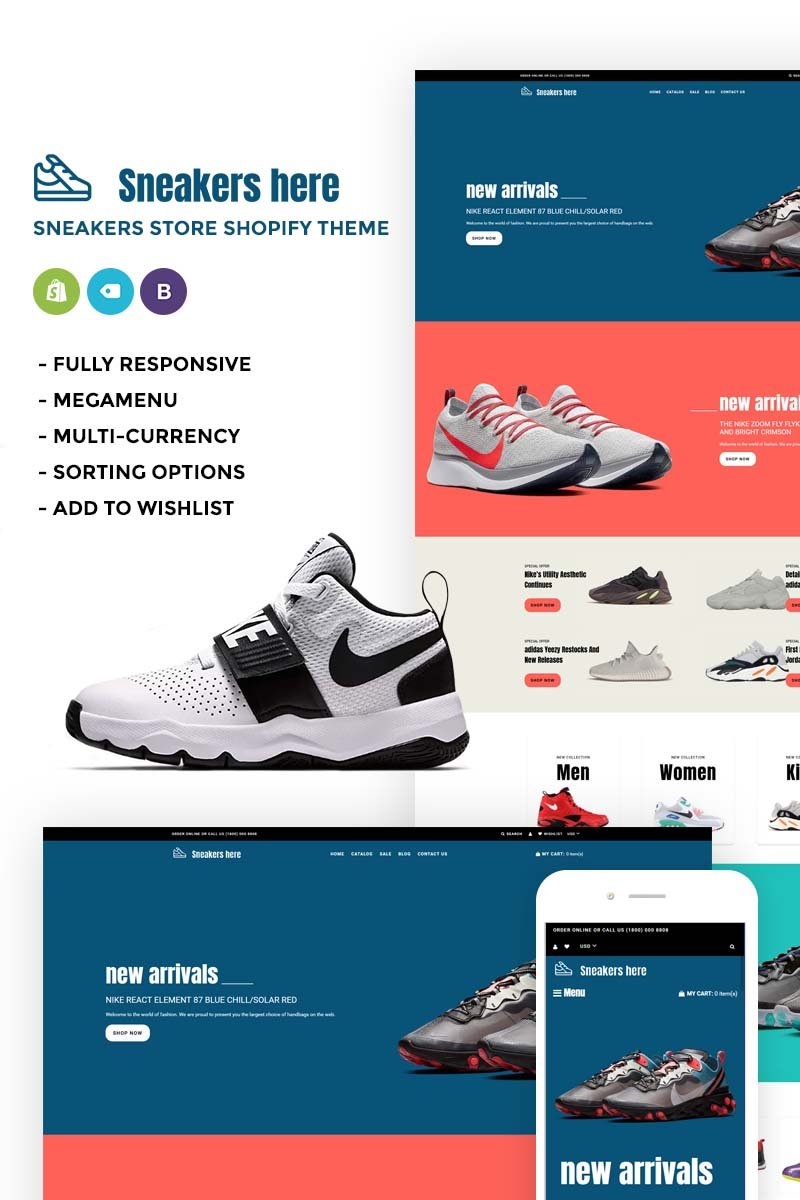 Sneakers Here - Sneakers Store Shopify Theme - screenshot