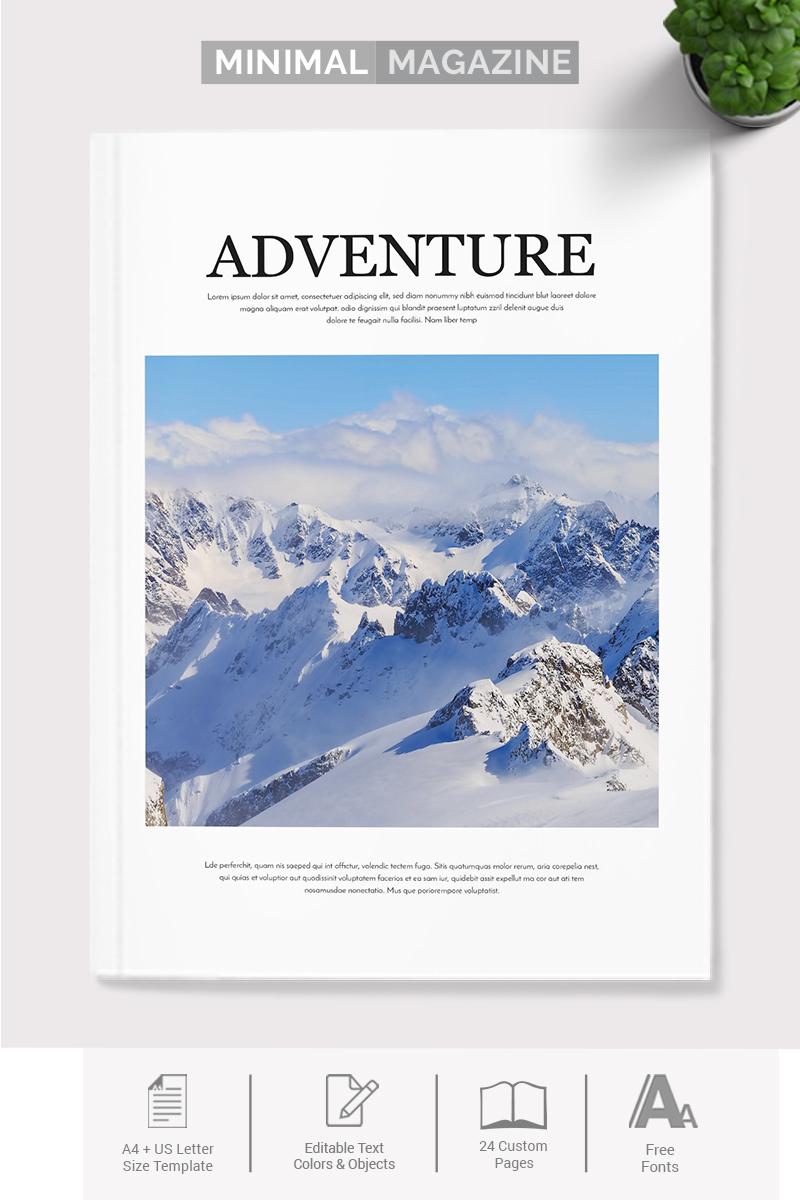 Szablon tożsamości korporacyjnej Minimal Indesign Magazine #73961