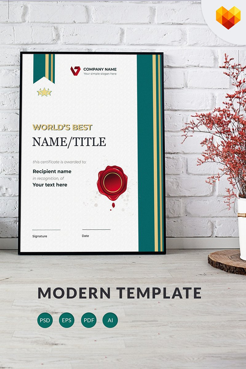 World's Best Certificate Template