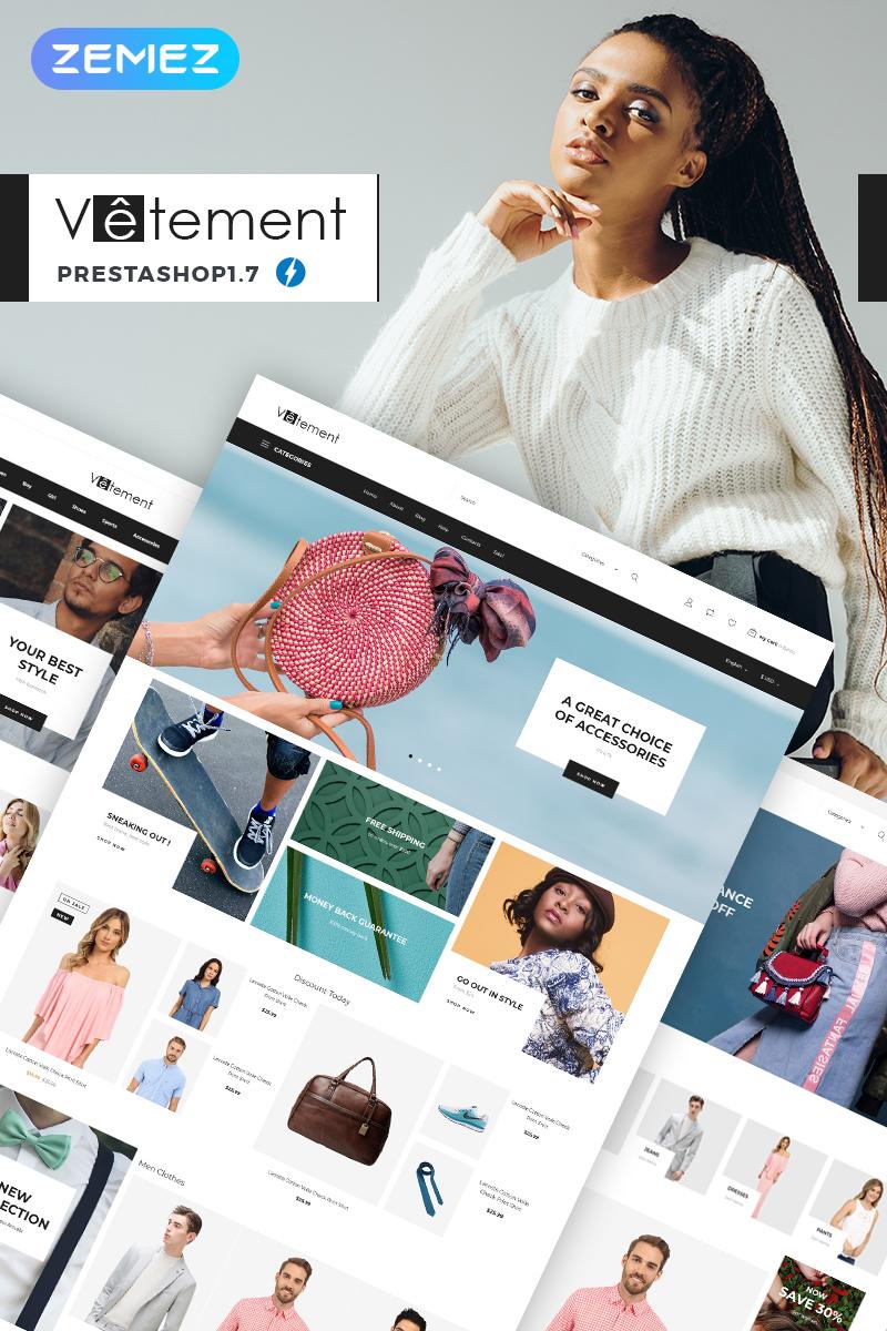 Website Design Template 74080 - apparel store zemez ecommerce