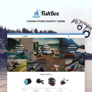 Preview image of FishBox - Attractive Fishing & Hunting Store