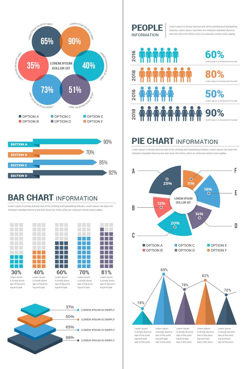 """""""Conceptual Infographic Elements"""" Éléments infographiques  #74004"""