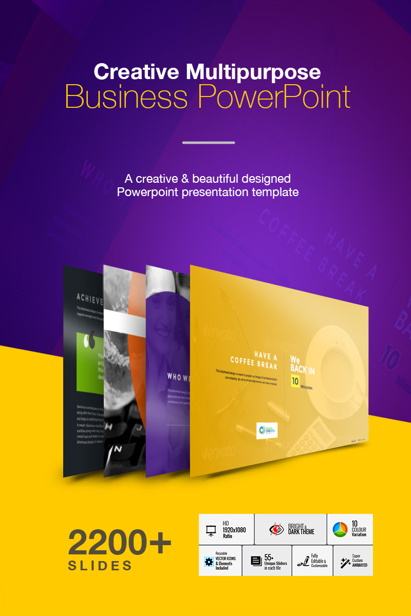 """Creative Multipurpose Business"" modèle PowerPoint  #74001"