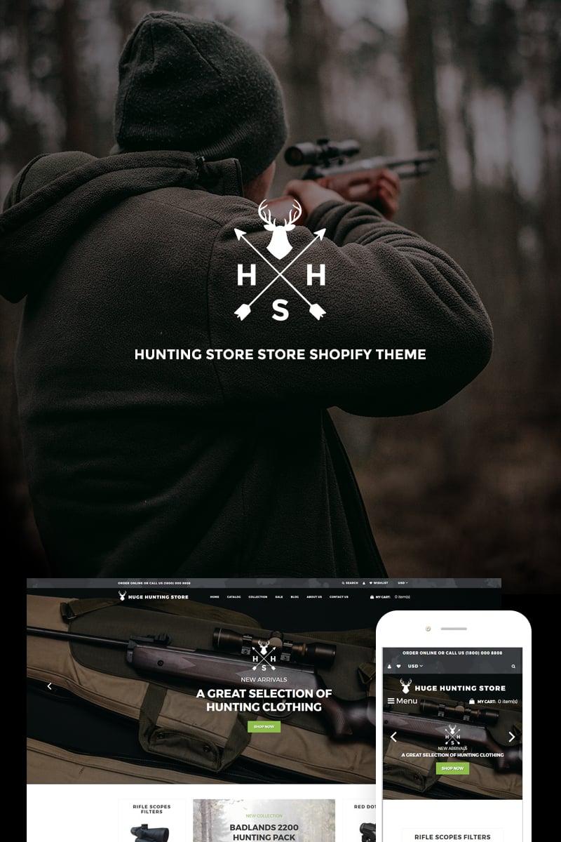"""Huge Hunting - Hunting Store"" - адаптивний Shopify шаблон №74088 - скріншот"