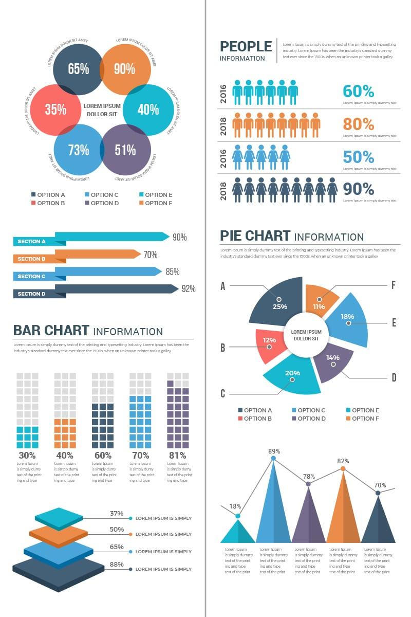 """Infografik-Elemente namens """"Conceptual Infographic Elements"""" #74004"""