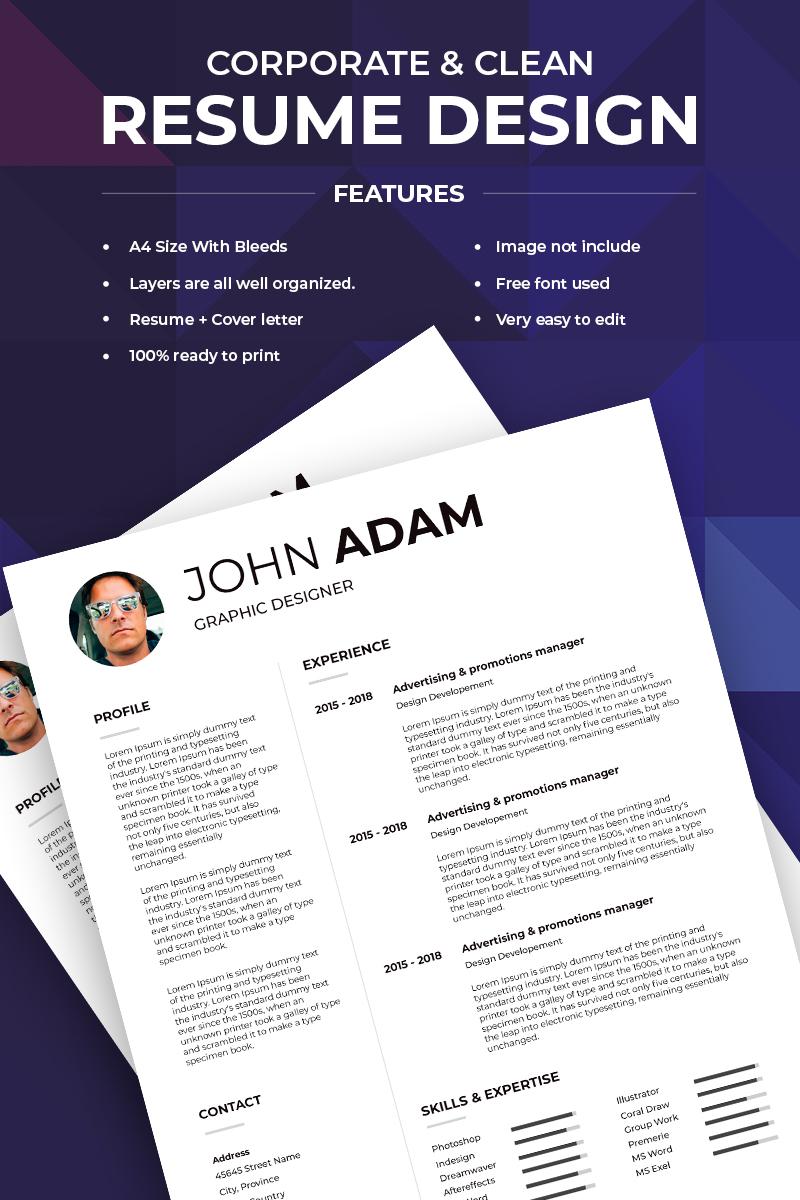"Lebenslauf-Vorlage namens ""John Adam -"" #74066"
