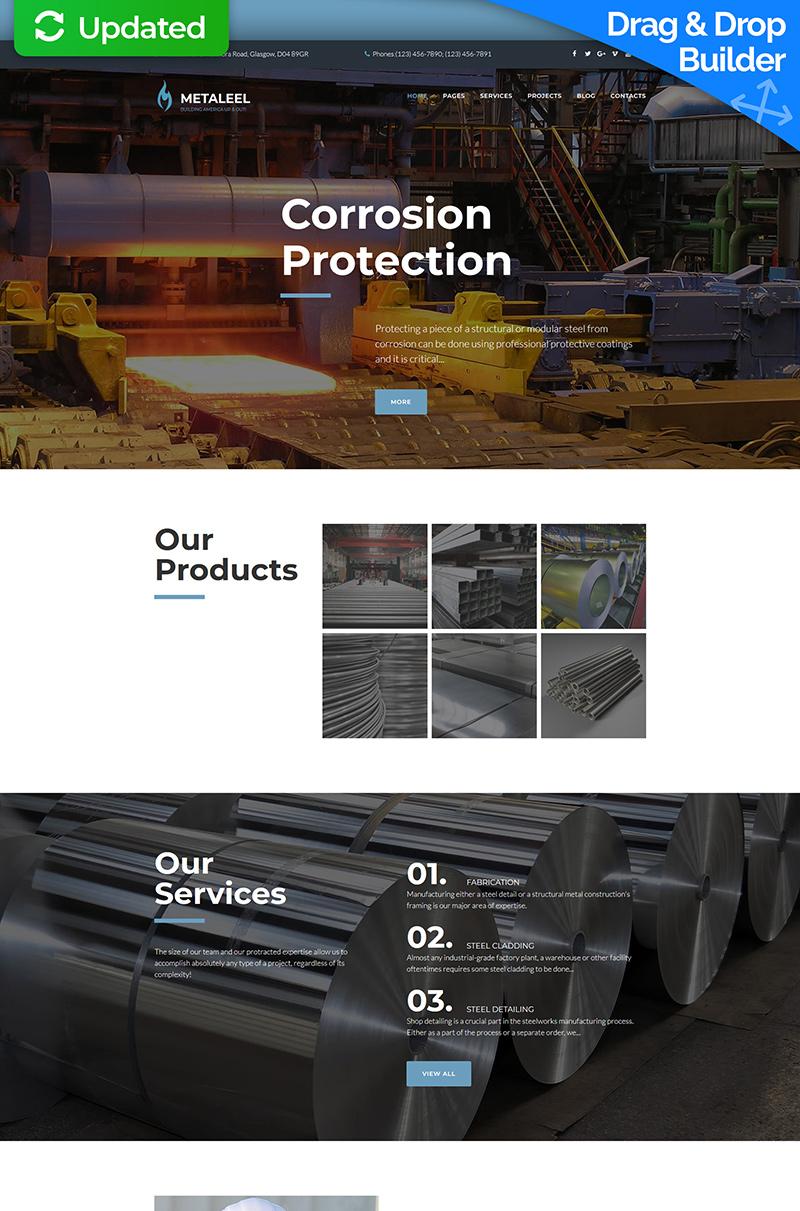 Metaleel - Steel Company Moto CMS 3 Template - screenshot