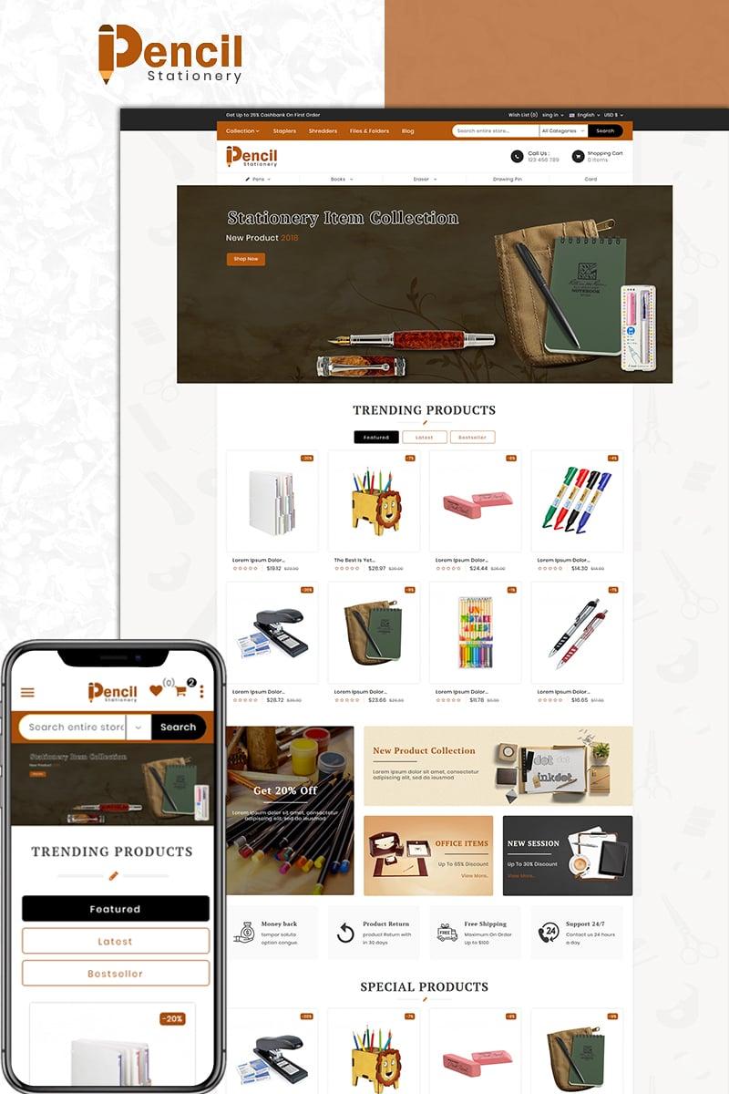 "Modello PrestaShop Responsive #74096 ""Pencil - Stationary"""