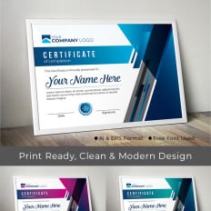 certificate templates award certificates templatemonster