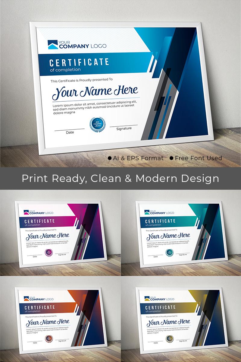 """Modern Award"" modèle de certificat  #74061"