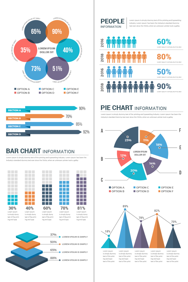 "Prvky infografiky ""Conceptual Infographic Elements"" #74004"