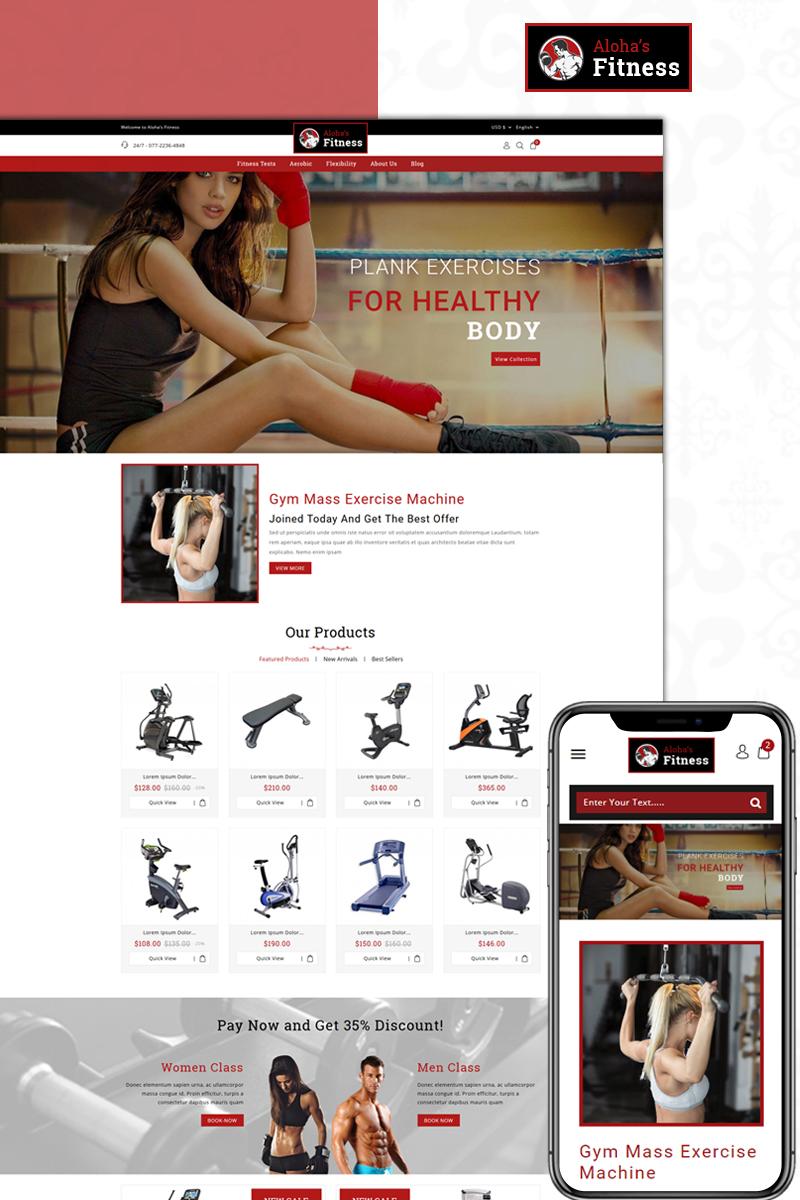 Responsivt Aloha's Fitness Store PrestaShop-tema #74072