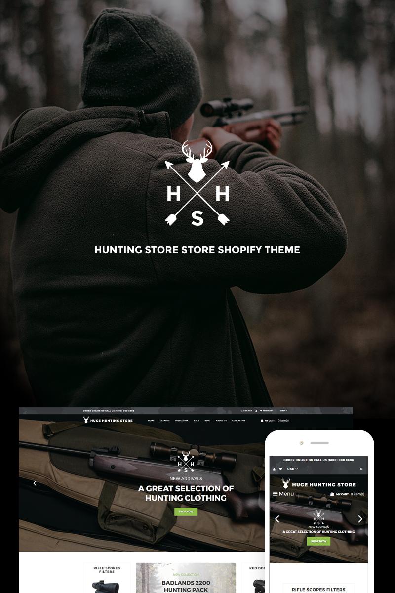 Responsywny szablon Shopify Huge Hunting - Hunting Store #74088