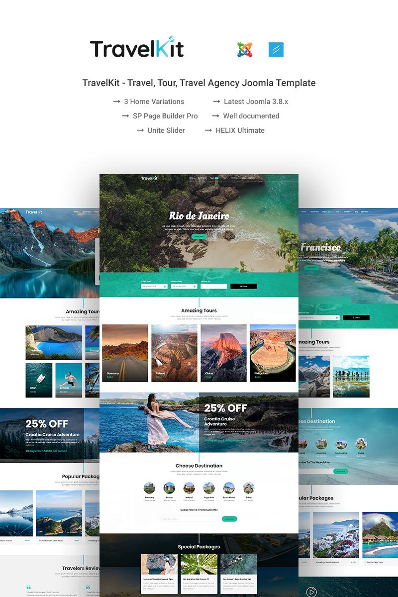 Reszponzív TravelKit Joomla sablon 74067