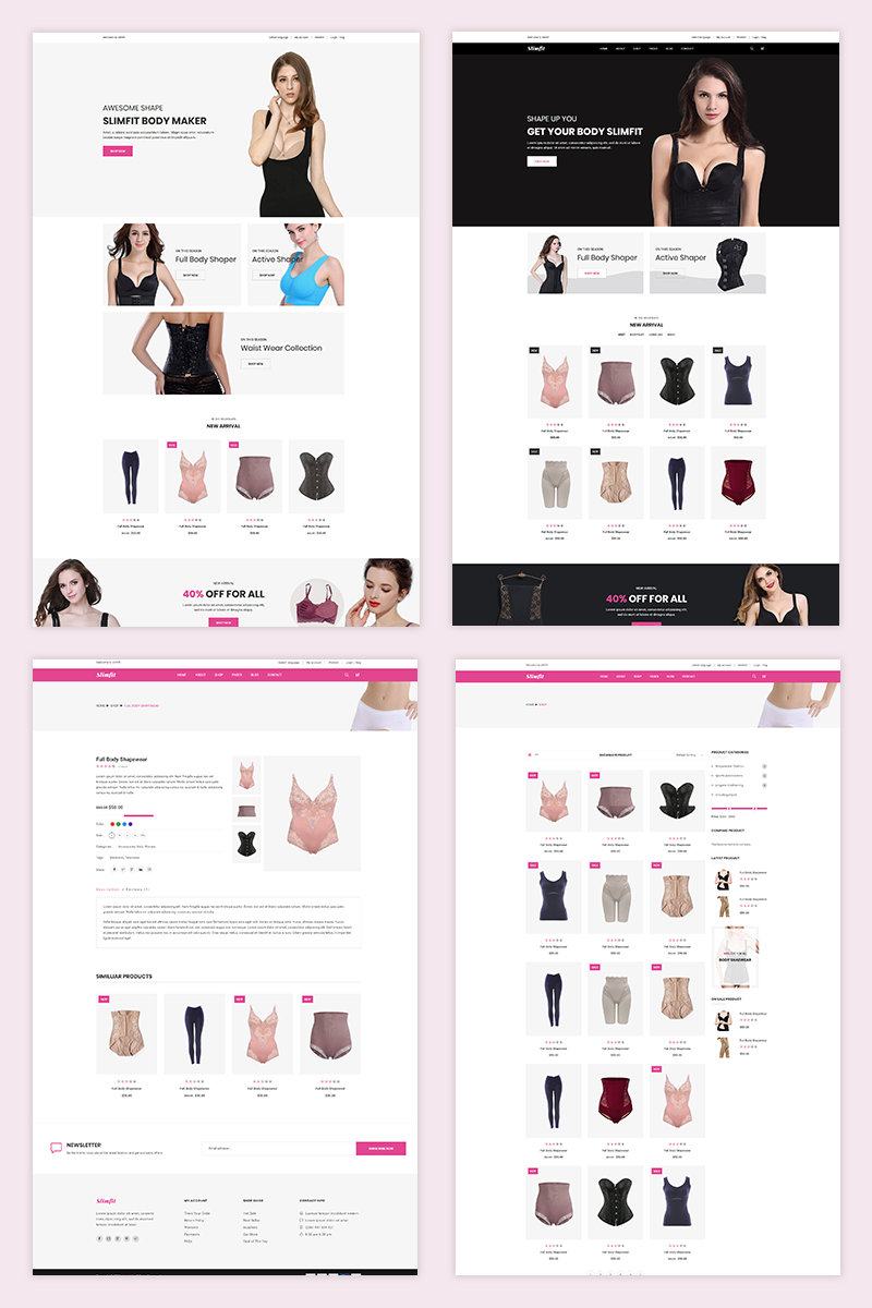 Slimfit - Shapewear eCommerce Shopify Theme