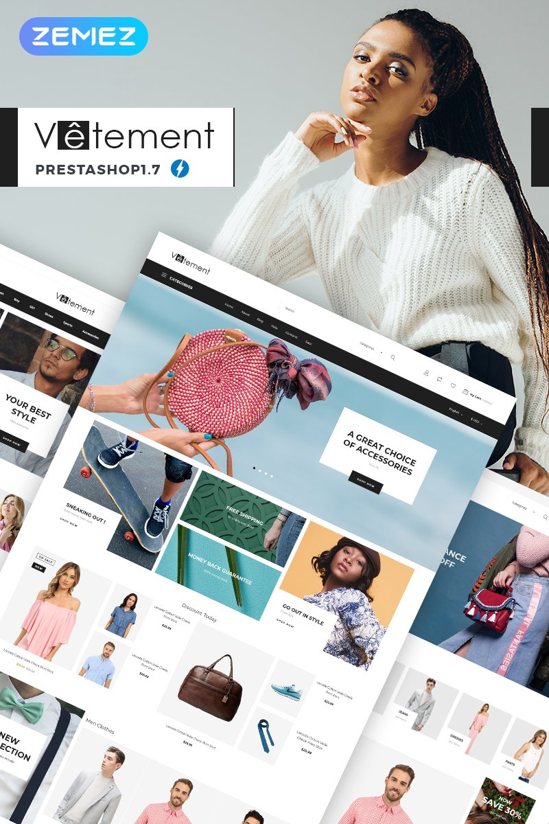 "Tema De PrestaShop ""Vetement - Apparel Store"" #74080"
