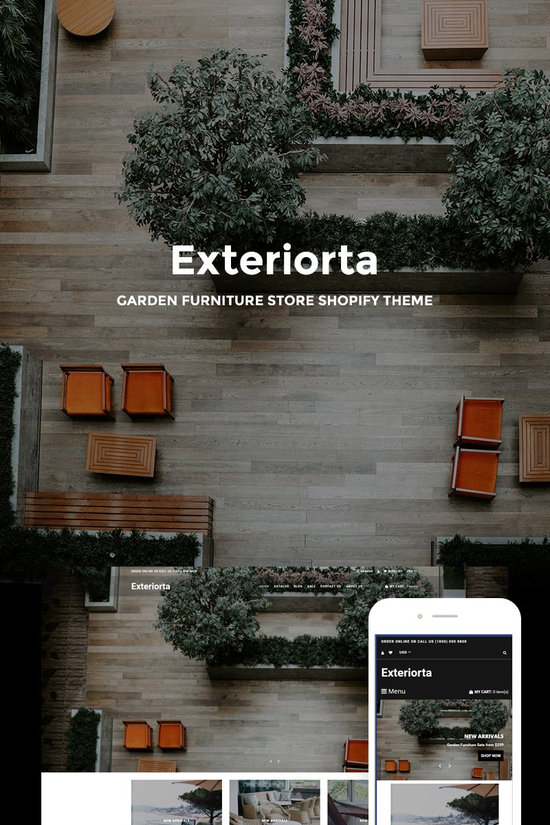 "Tema Shopify ""Exteriorta - Stylish Exterior Design Online"" #74078"