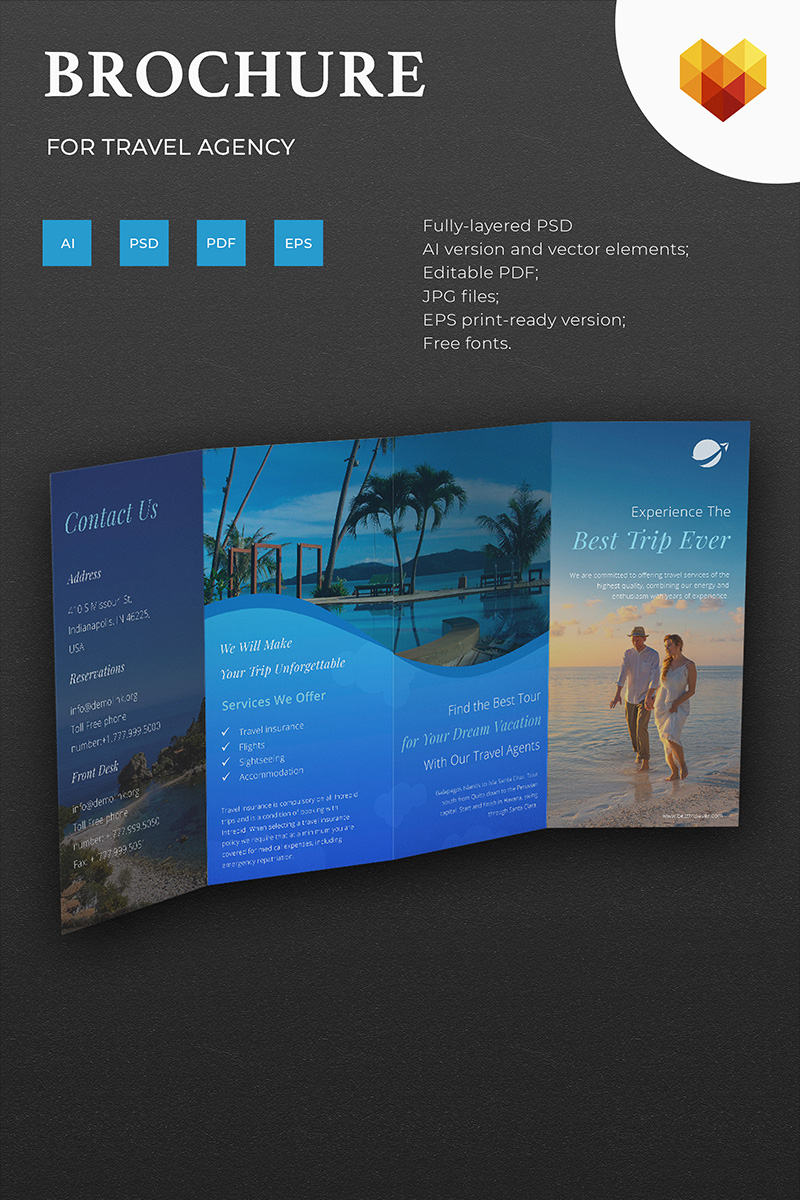 Travel Agency Brochure Corporate Identity Template