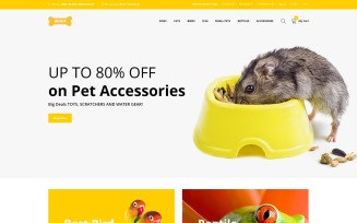 Woof - Simple Pet Supplies Online Shop OpenCart Template