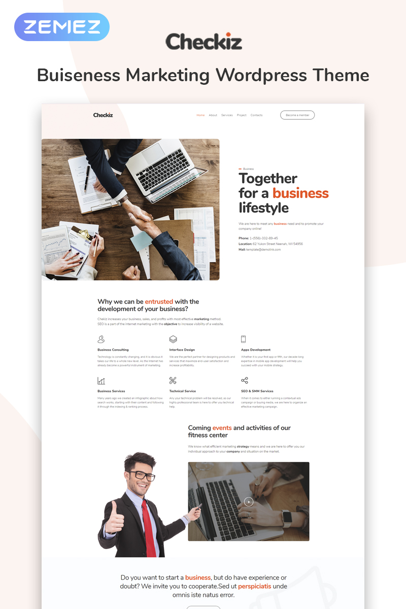 website template 74110 business consulting promotion custom website