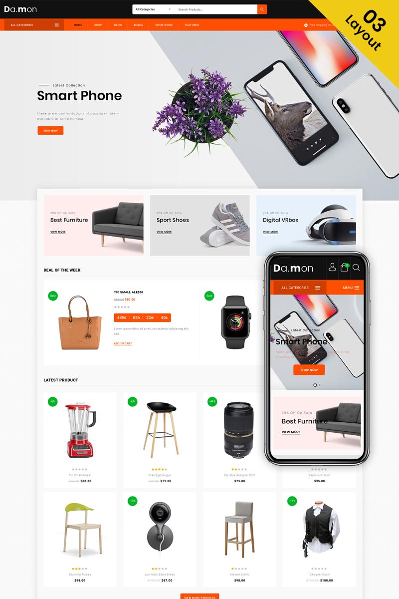 Tema para woocommerce - Categoría: Cafés y restaurantes - versión para Desktop