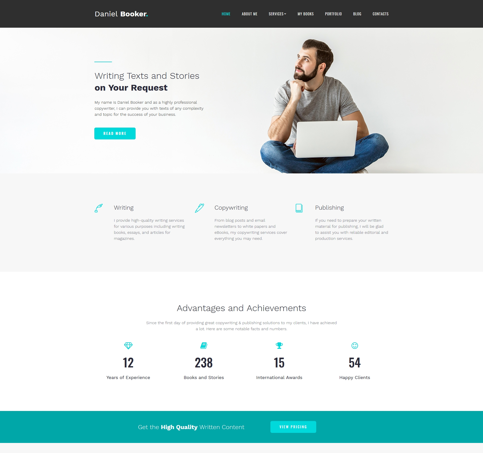 Website Design Template 74151 - books inspiration