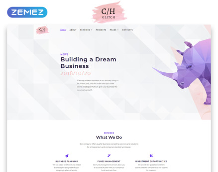 C/H Glitch - Business Multipage HTML5 Website Template
