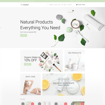 Preview image of Simpleaf - Organic Cosmetics Store