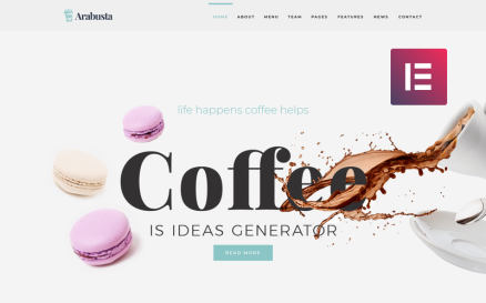 Arabusta - Coffeehouse WordPress Elementor Theme WordPress Theme