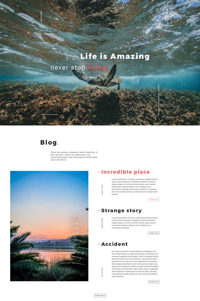 Plantilla para sitios web - Categoría: Arte y fotografía - versión para Desktop