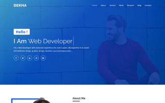 Dekha - Creative Personal Portfolio Landing Page Template