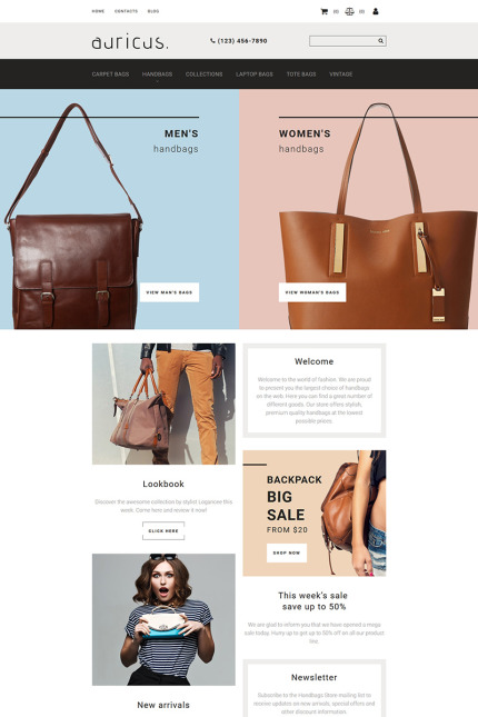 Website Design Template 74182 - online store shop estore ecommerce fashion brand brands vintage outfit
