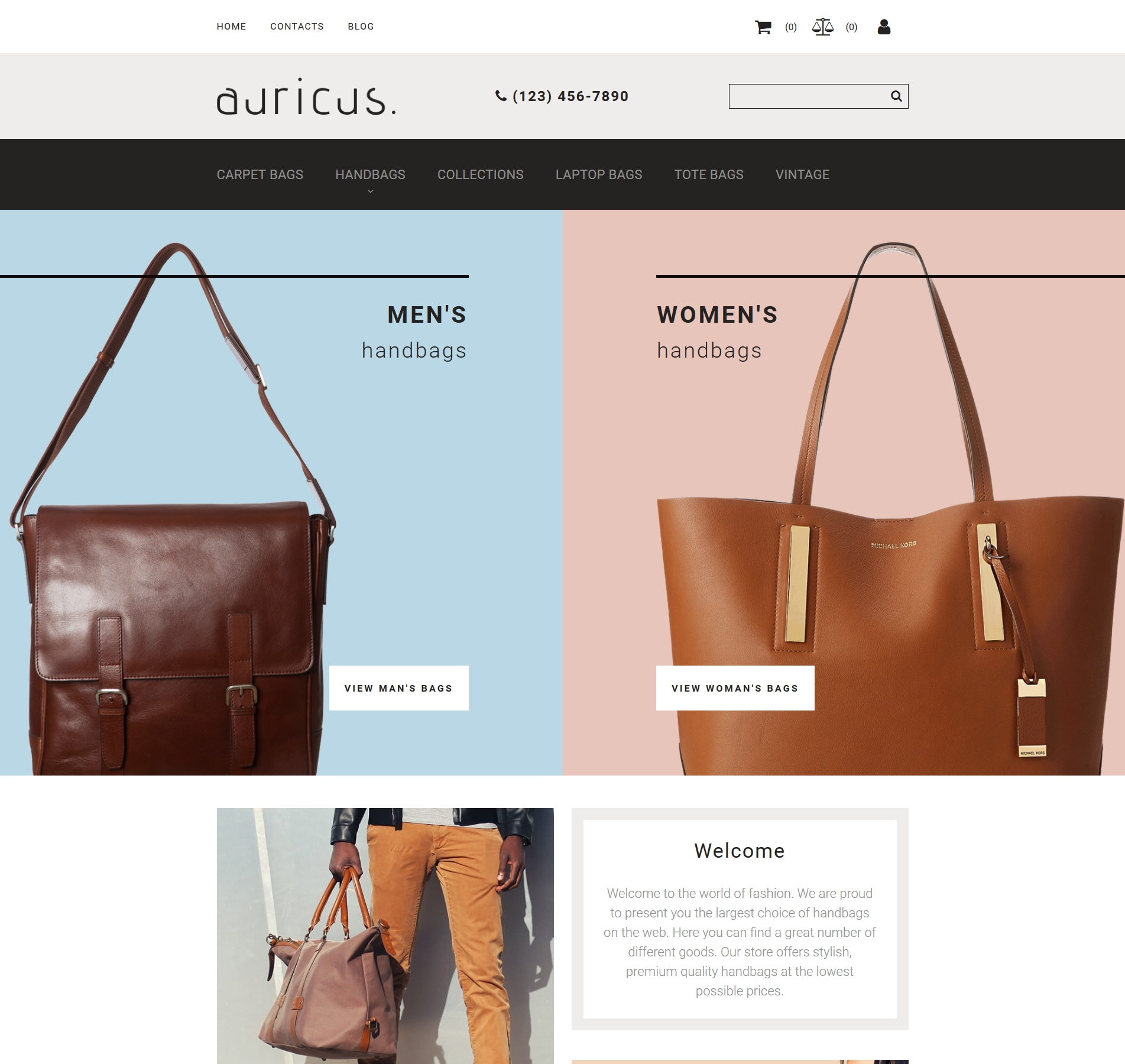 Website Design Template 74182 - outfit