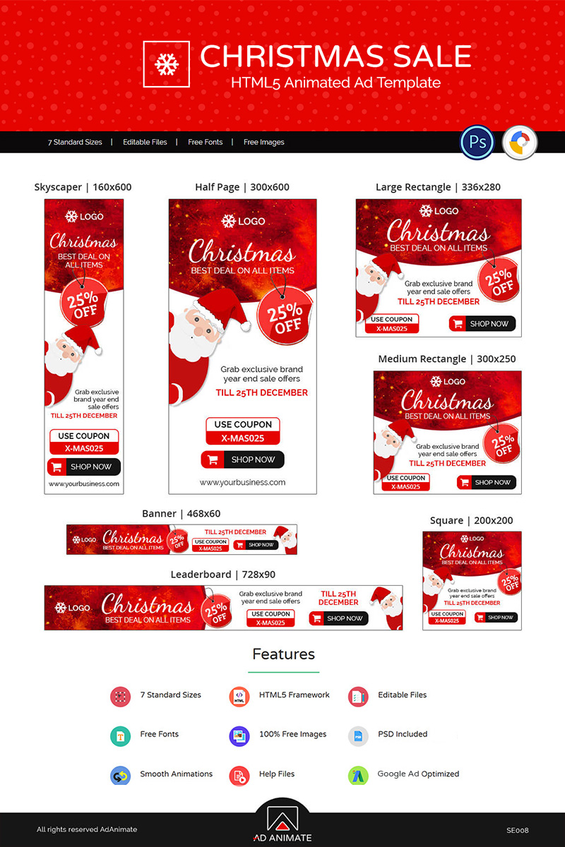 "Animated Banner namens ""Shopping & E-commerce 