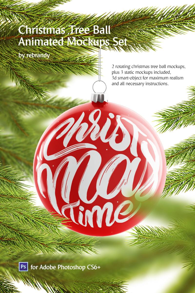 Christmas Ball Animated Product Mockup