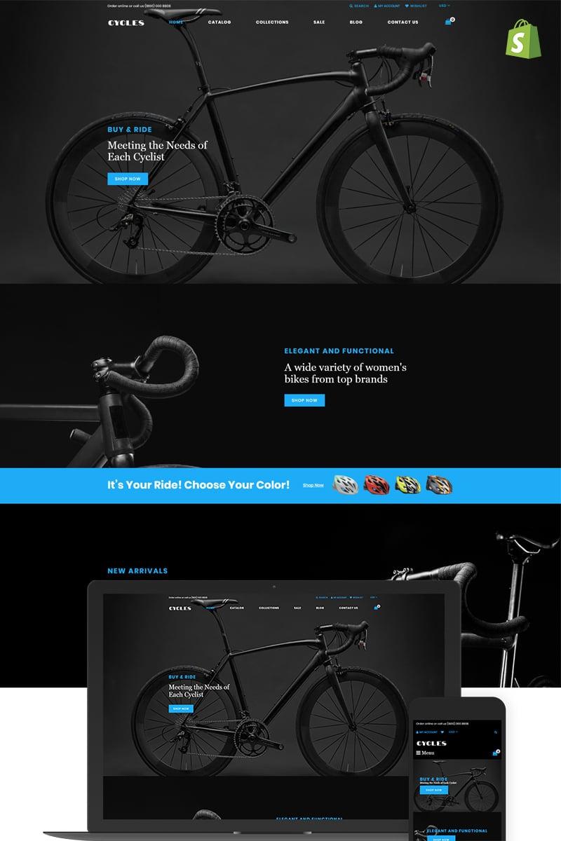 """Cycles - Bikes Shop"" - адаптивний Shopify шаблон №74138"
