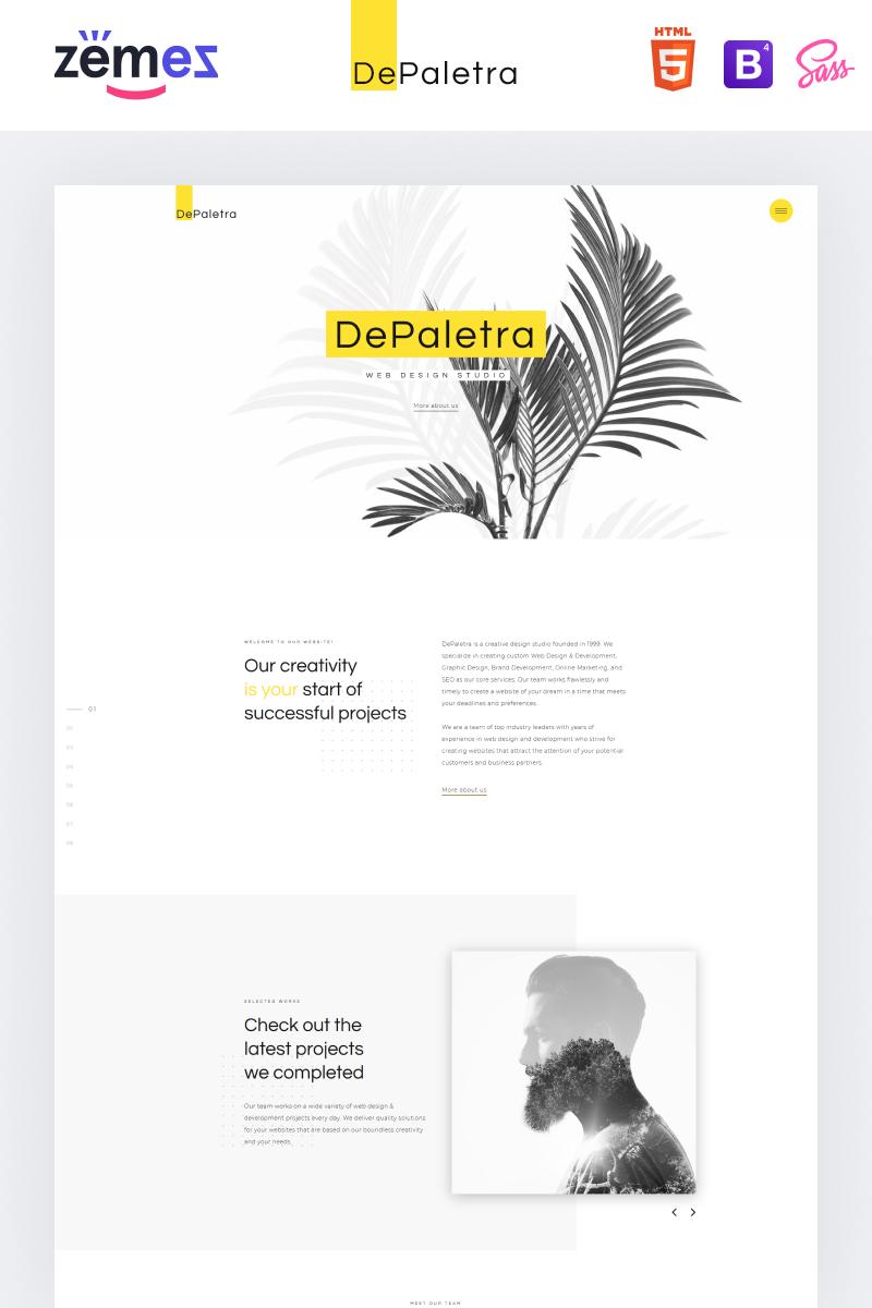 """DePaletra - Elegant Design Studio Responsive"" 响应式网页模板 #74167"