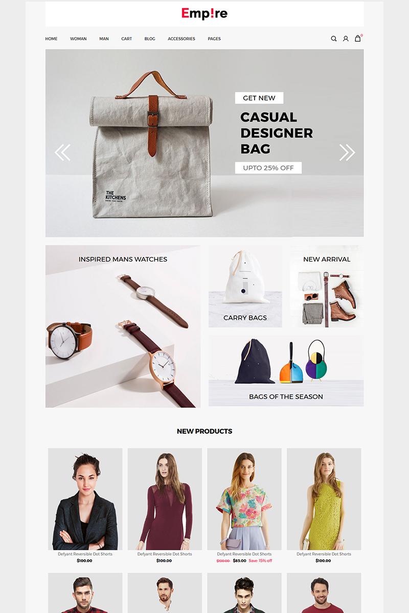 """Empire - Fashion | Accessories"" Responsive ZenCart template №74147"