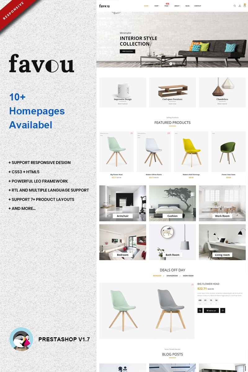 """Favou - Furniture"" PrestaShop Thema №74117"