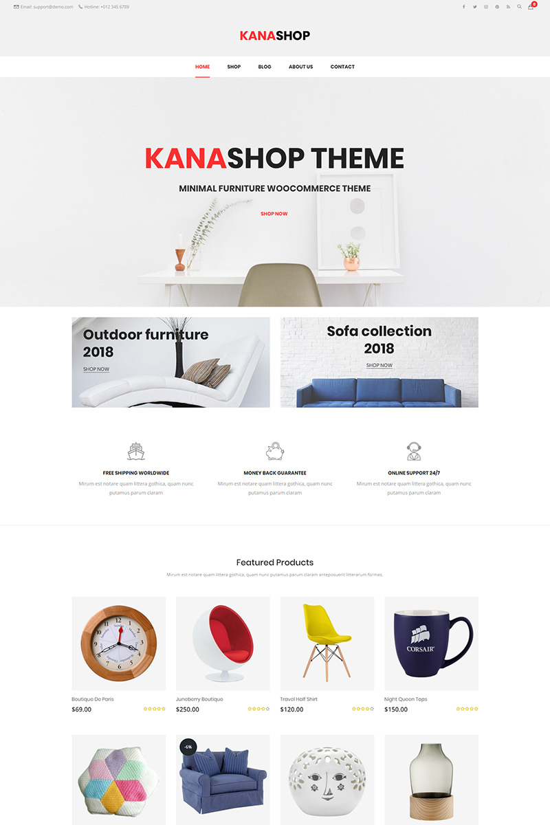 Kanashop - Minimalist Furniture WooCommerce Theme - screenshot