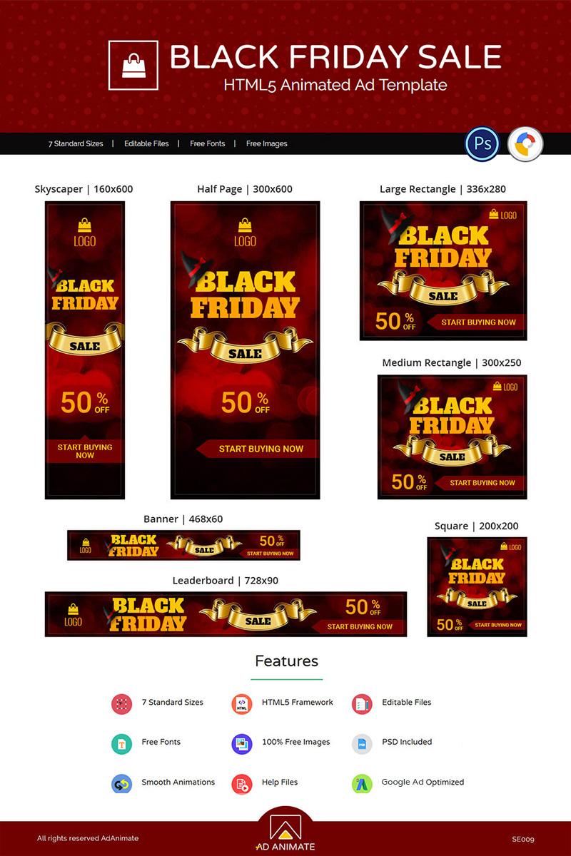 "Modello Animated Banner #74129 ""Shopping & E-commerce | Black Friday Sale"""